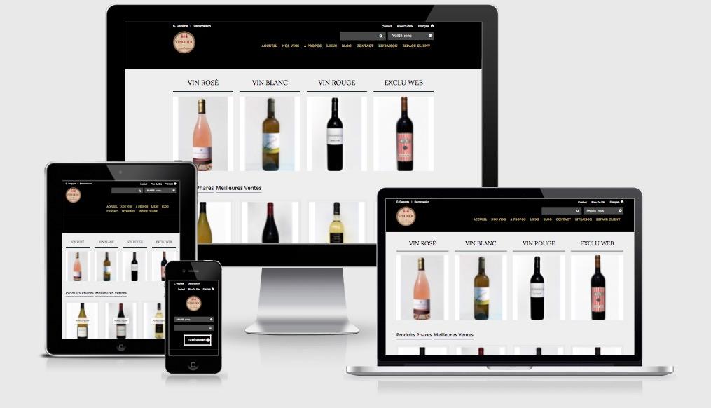 Boutique en ligne viticole